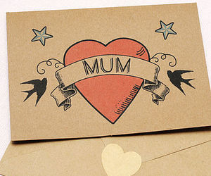 mum tattoo, mother's day card, and mother tattoo card image