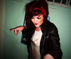 club, grunge, and red lipstick image