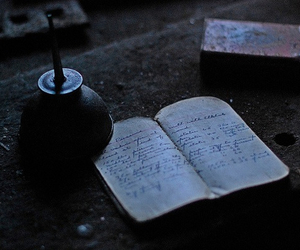 vintage, diary, and black and white image