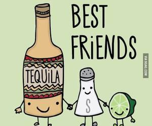 tequila, lemon, and salt image