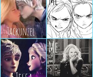 frozen, jackunzel, and jack frost image