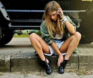 girl, clothes, and hair image