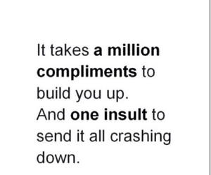 true, compliment, and insult image