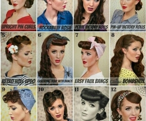 awesome, pinup, and hair image