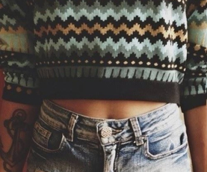 sweater, outfit, and jeans image