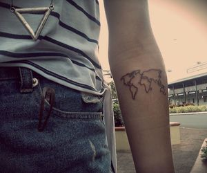 64 images about tattoo on we heart it see more about tattoo bird map tattoo and world image gumiabroncs Images
