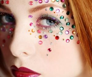 colorful, attractive, and makeup image