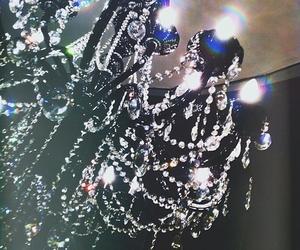 diamonds, light, and chandelier image