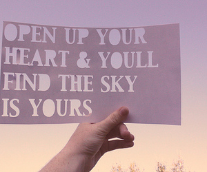 sky, heart, and quote image