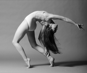ballet, black and white, and contemporary image