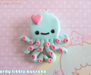 kawaii, octopus, and clay image