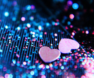 heart, glitter, and hearts image