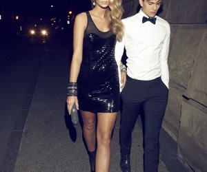 couple, dress, and model image