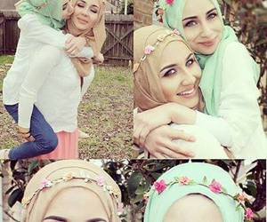 hijab, sisters, and friends image
