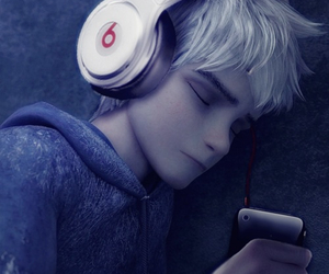 jack frost, frost, and headphone image