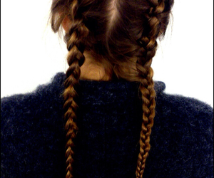braids, love, and brunette image