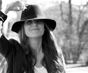 Nina Dobrev, actress, and hat image