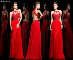 gown, perfection, and sherri hill image