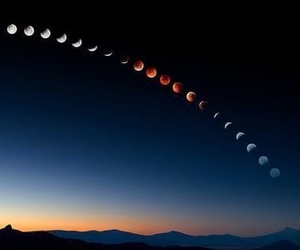 astronaut, eclipse, and full moon image