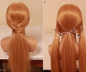 hair, hairstyles, and ponytail image