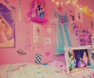 disney, pink, and room image