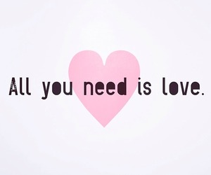 all you need is love, alone, and heart image