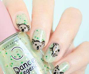 green, Koala, and nails image