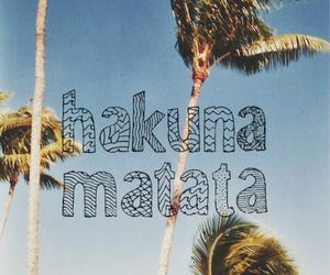 hakuna matata, summer, and beach image