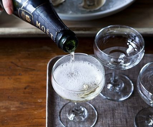 champagne, moet, and delicious image