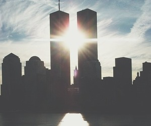 city, sun, and new york image