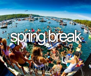 spring break, party, and summer image