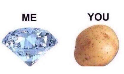 diamond, potato, and funny image