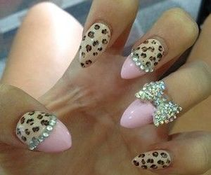 nails, bow, and leopard image