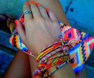 bracelets, nail polish, and bright image
