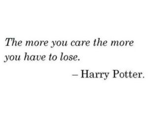 quotes, harry potter, and care image