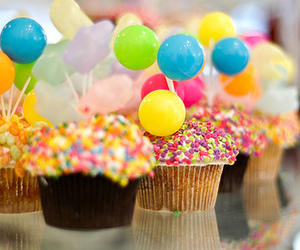 balls, colors, and muffins image