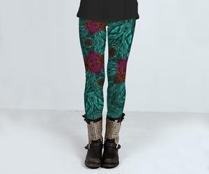 animal print, fashion, and leggings image