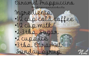 caramel, starbucks, and coffee image
