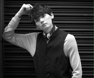 black and white, handsome, and japanese image