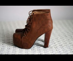 brown, fashion, and heels image