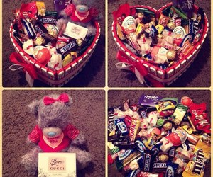 love, chocolate, and food image