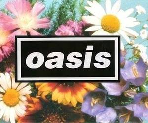 oasis, music, and flowers image