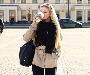 blonde, cute, and coffee image