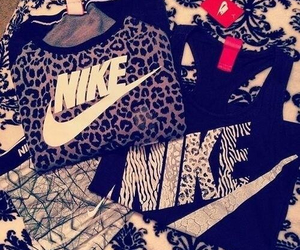nike, fashion, and leopard image