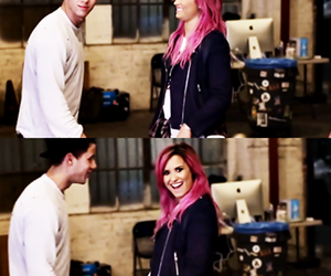 nick jonas, demi lovato, and nemi image