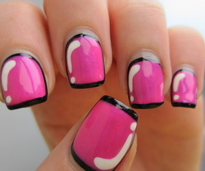 pink, nails, and nail art image