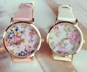 floral, luxury, and watch image