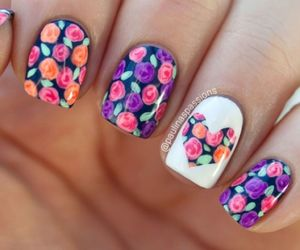 nails, flowers, and heart image