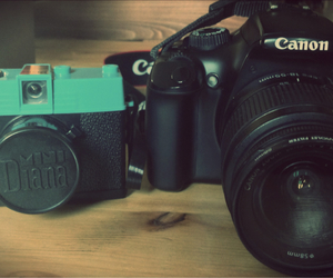 cameras, canon, and grunge image