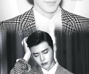 black and white, jongsuk, and lee jong suk image